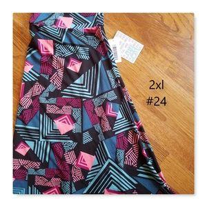 LuLaRoe NWT 2X Azure spring skirt